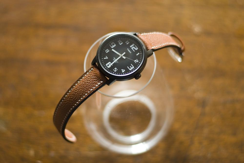 手縫い時計バンド WHカーフ-ブラウン