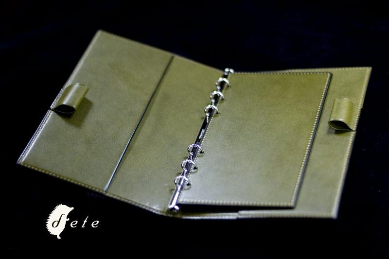 手縫い バイブルサイズシステム手帳 国産カーフ×TOIANO