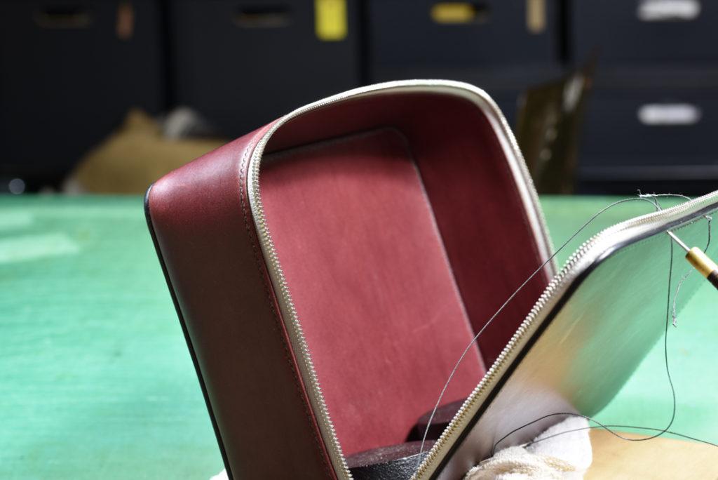 手縫いチクチク 鞄製作