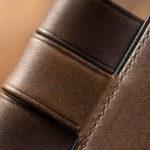 手縫いのほぼ日手帳カズン用手帳カバーしおり付き イタリアンレザーグレー×プラム スペシャルオーダー
