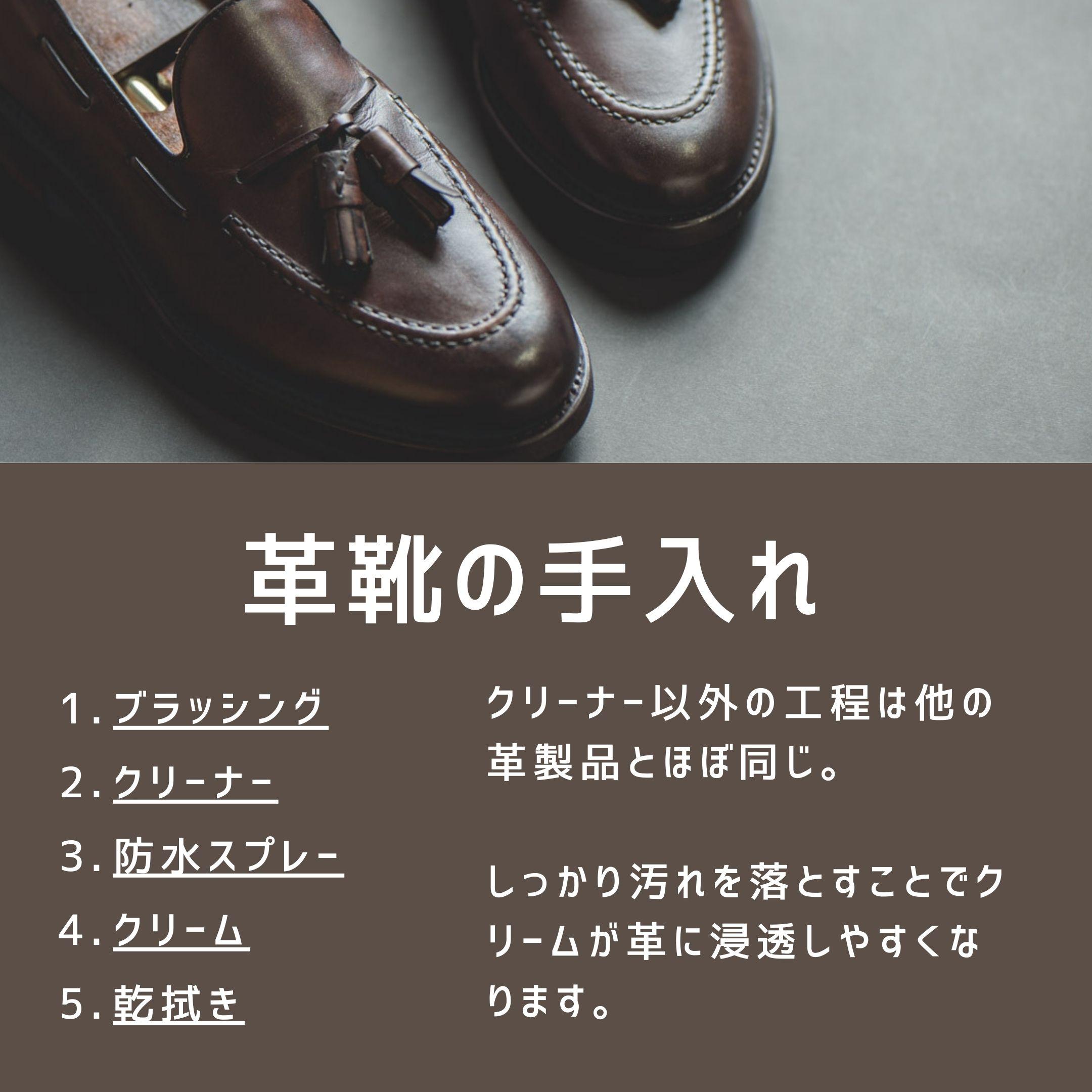 革靴のお手入れの基本