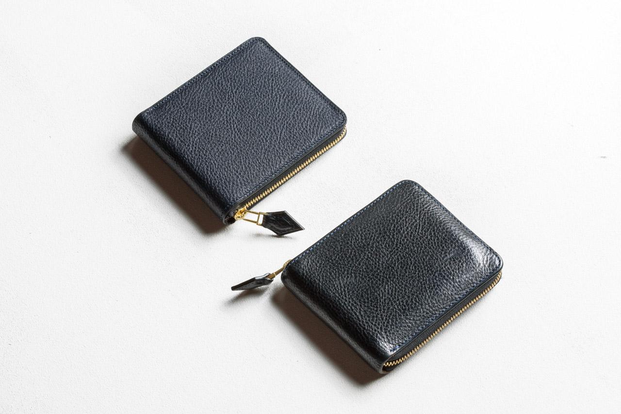 deteラウンドファスナー財布 新品と4年使用