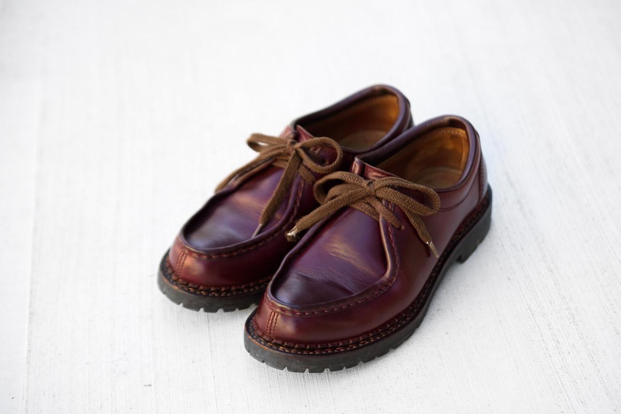 ブートブラックのシュークリームでメンテナンスした安藤製靴のブーツ