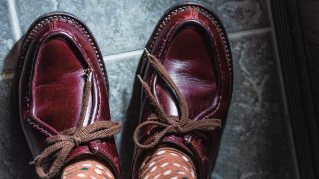 安藤製靴の革靴OR1の経年変化
