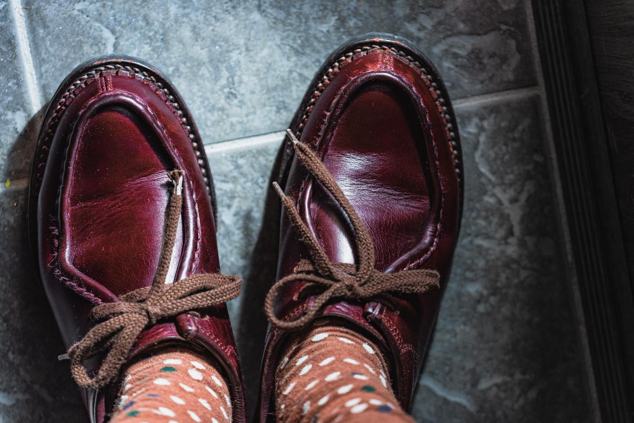 安藤製靴クロムエクセルの経年変化