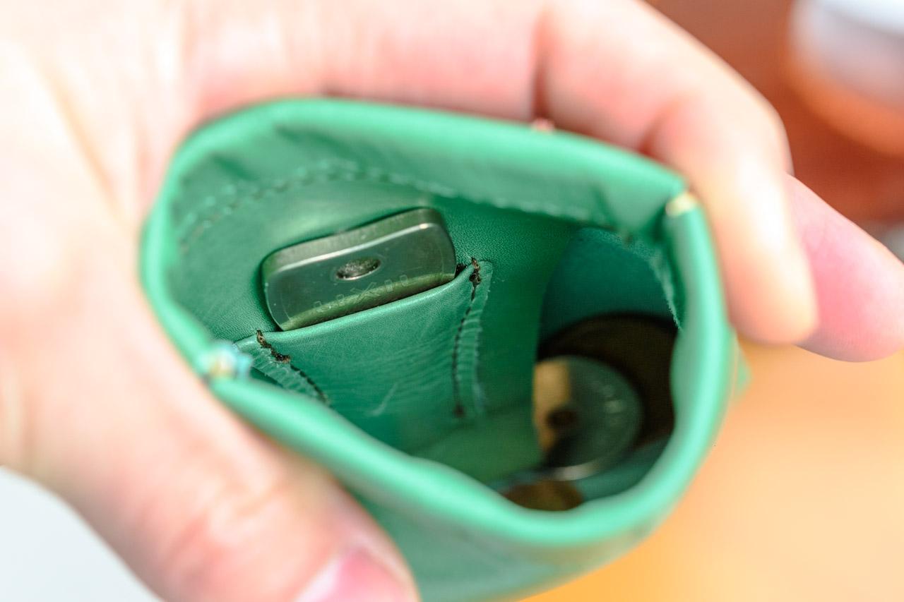 鍵も収納可能なミニ財布