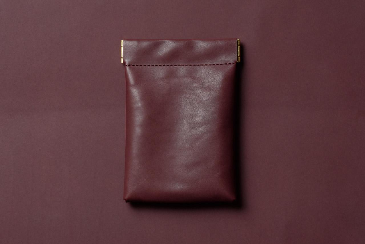 ミニマリスト向けミニ財布 ボルドー
