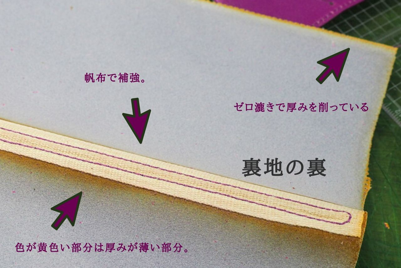 フランスの某ブランドHのレザー手帳カバーを分解してみた